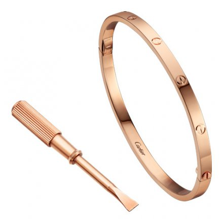 fake cartier love bracelet SM Pink gold small model B6047317