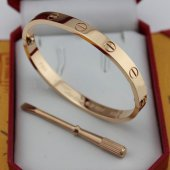 Réplique Cartier Love Bracelet en or rose avec un tournevis