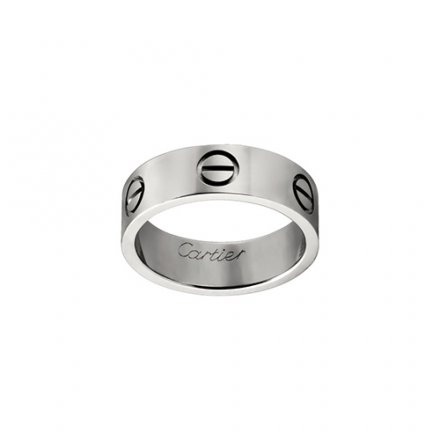 fake cartier love white gold ring B4084700