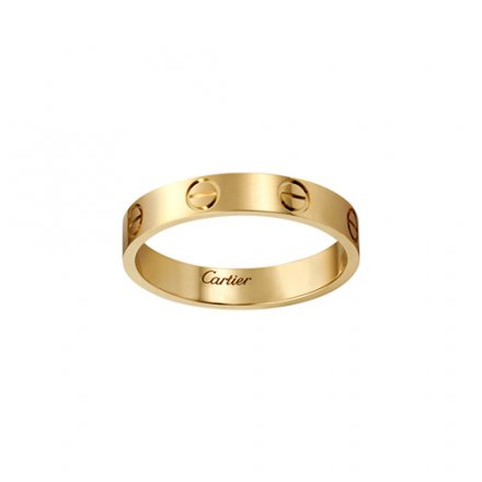 replica cartier love yellow gold ring narrow version for men and women