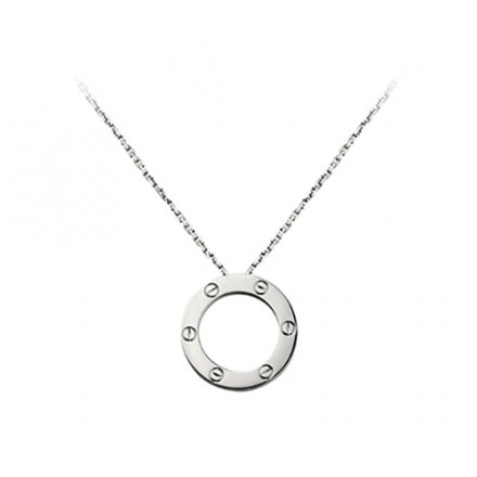 replica cartier love white gold necklace screw design with pendant
