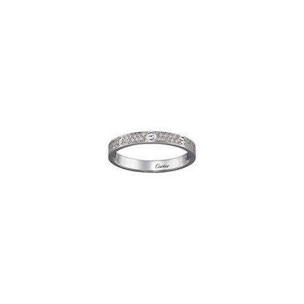 copy cartier love ring white gold SM Covered with diamonds