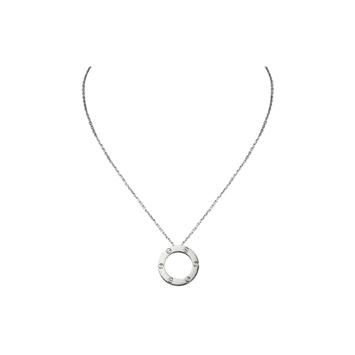 replica cartier love white gold necklace screw design with pendant - Click Image to Close
