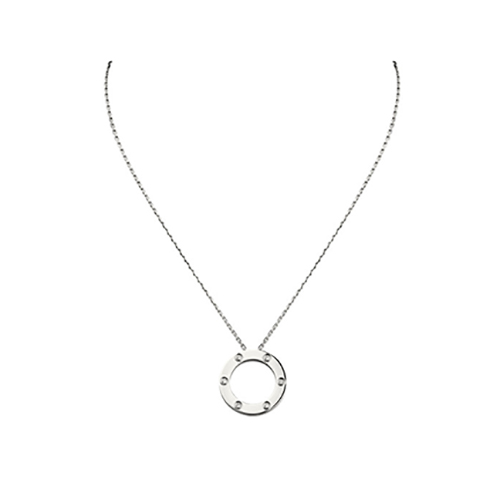 fake cartier love white gold necklace with 6 Diamonds pendant - Click Image to Close