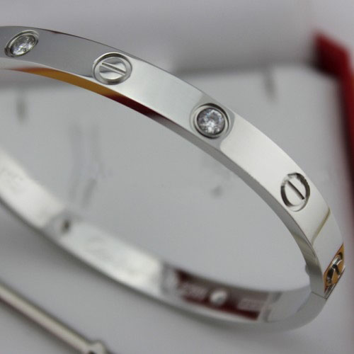 Replica Cartier Love Bracelet White Gold with Diamonds and Screwdriver - Click Image to Close