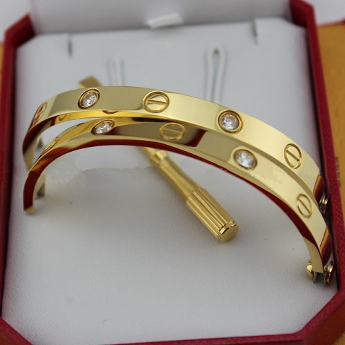 Réplique Cartier LOVE Bracelet en or jaune avec diamants et tournevis