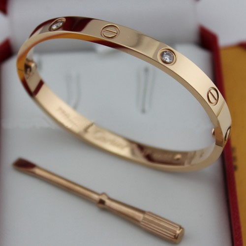 Replica Cartier Love Bracelet Pink Gold with Diamonds and Screwdriver