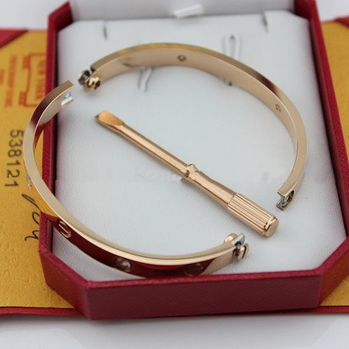 Replica Cartier Love Bracelet Pink Gold with Diamonds and Screwdriver - Click Image to Close