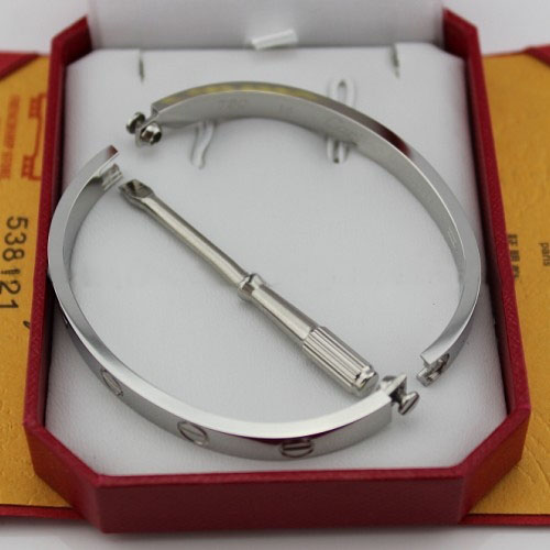 Replica Cartier Love Bracelet White Gold with Screwdriver