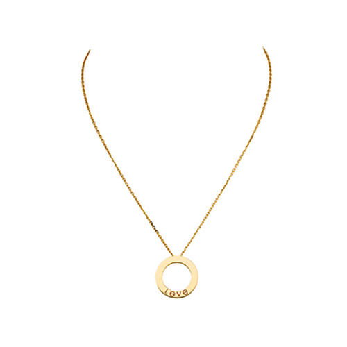 fake cartier love yellow gold necklace screw design with pendant - Click Image to Close