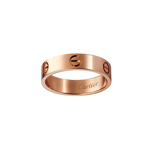 copy cartier love pink Gold ring B4084800