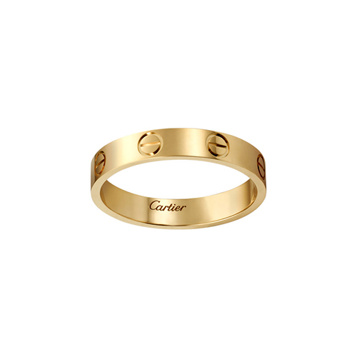 replica cartier love yellow gold ring narrow version for men and women - Click Image to Close