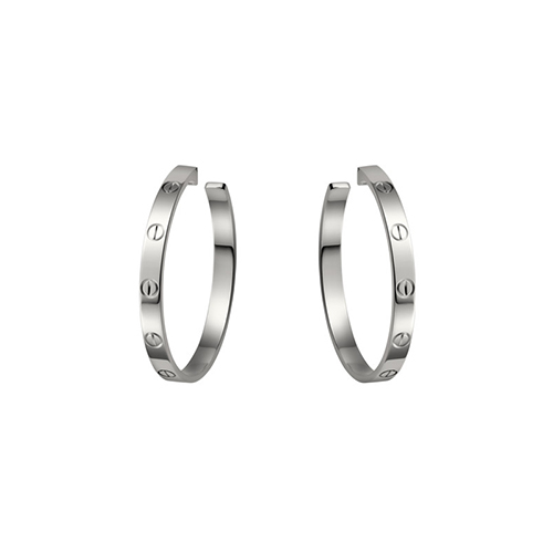 fake cartier love white gold screw design earring B8022800