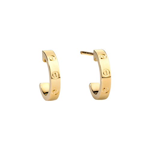 replica cartier love yellow gold earring screw design B8028800