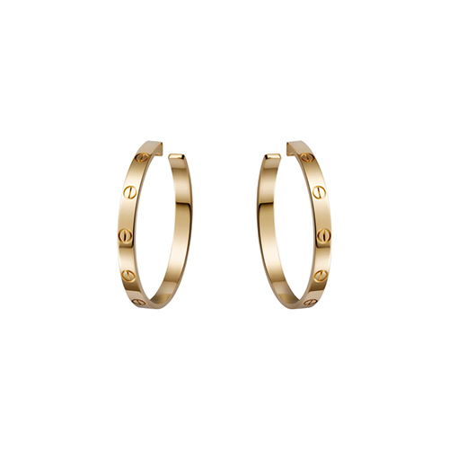 Replik cartier love gelbes Gold Schraubendesign Ohrring B8028200