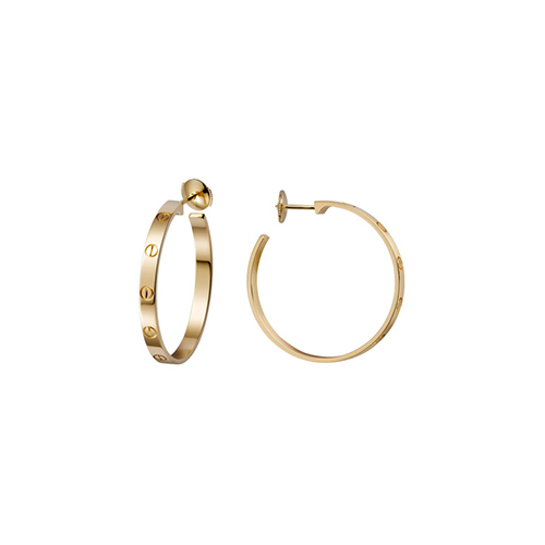 replica cartier love yellow gold screw design earring B8028200 - Click Image to Close