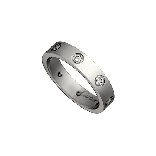 fake cartier love white gold ring eight diamond narrow version - Click Image to Close
