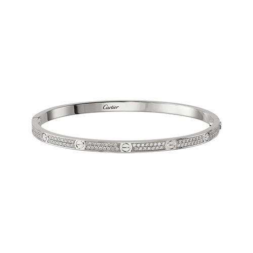 copy cartier love white gold bracelet SM brilliant-cut diamonds - Click Image to Close