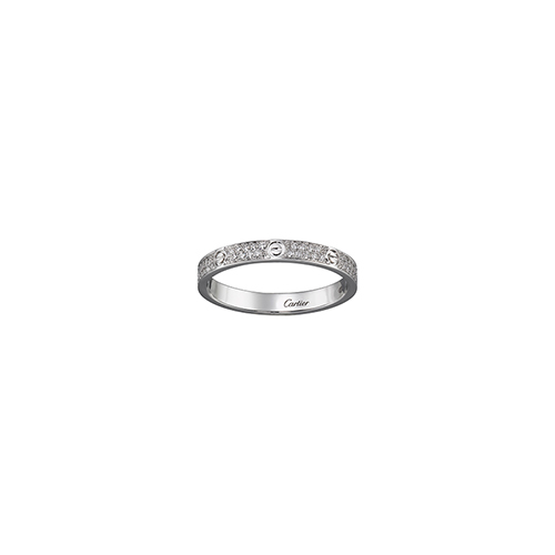 copia cartier love anello oro bianco SM Coperto di diamanti