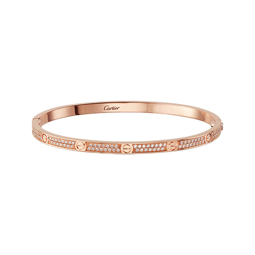 fake cartier love pink gold bracelet SM set with brilliant-cut diamonds - Click Image to Close
