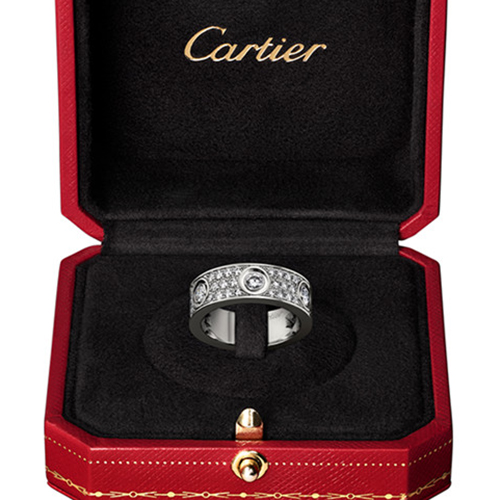 fake cartier love white gold ring cut diamonds wide version - Click Image to Close