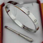 Love Bracelet Replica Cartier en or blanc avec un tournevis