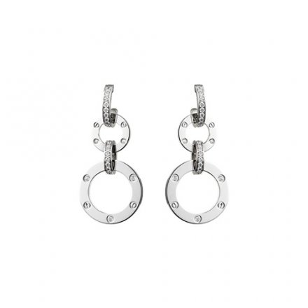 réplique cartier love or blanc diamant boucle d'oreille N8049000