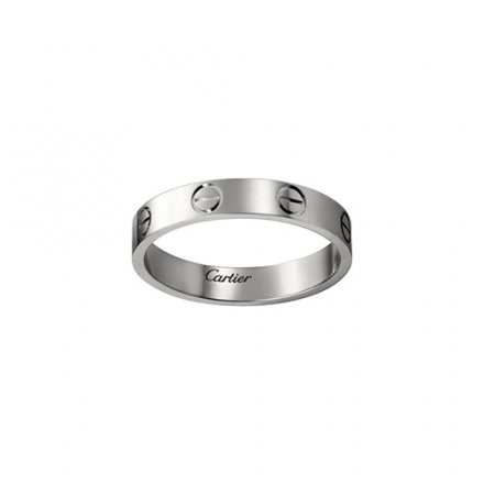 fake cartier love white gold ring narrow version for men and women