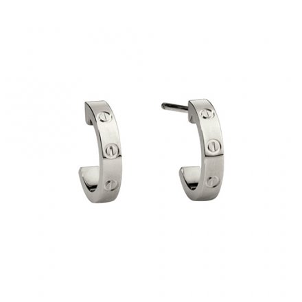 faux cartier love or blanc boucle d'oreille conception de vis B8028900