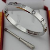 Replica Cartier Love Bracelet White Gold with Diamonds and Screwdriver