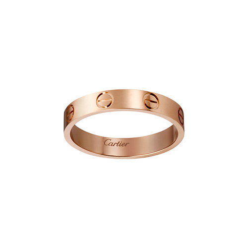 copy cartier love pink Gold ring narrow version for men and women - Click Image to Close