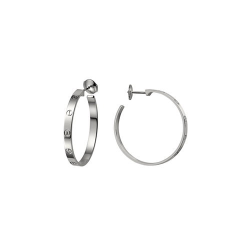 fake cartier love white gold screw design earring B8022800 - Click Image to Close